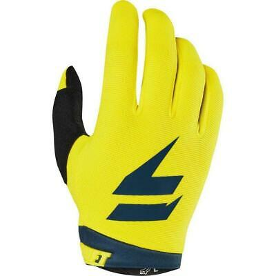 Shift 2019 WHIT3 Label Dirt Bike Motocross Riding Air Gloves - Yellow/ Navy
