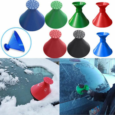 Car Windshield Magic Ice Scraper Tool Cone-shaped Funnel Remover Snow Cleaner SR