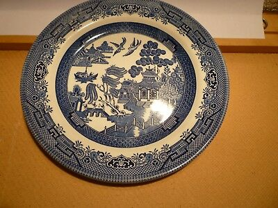 Willow Plates Blue White Pattern Plate Set 5 Churchill England