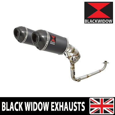 MSX 125 GROM 1-2 2013-2016 Twin Exhaust System Black + Carbon Silencers BC20V