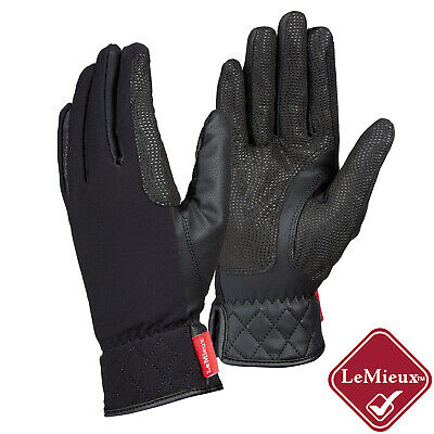 LeMieux PRO TOUCH WINTER Riding GLOVES All Weather Tough Thermal Insulated