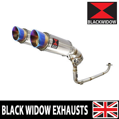 MSX 125 GROM 1-2 2013-2016 Twin Exhaust System Round Stainless Silencers SL20R
