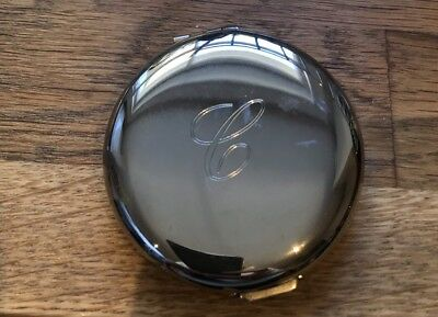"LINKS OF LONDON Silver Plated Compact Pocket Mirror. Been Engraved with ""C"""