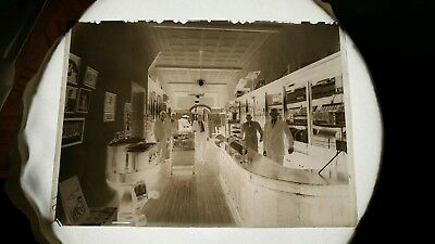 ANTIQUE GLASS PHOTOGRAPH Negative Slide Music Storefront Vintage Early  1900's