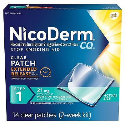 NICODERM CQ Step 1 Clear Patch EXTENDED RELEASE 24 hr 21mg -14 Count EXP 07/2019