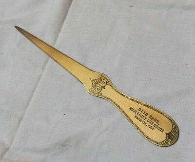 Otto Brothers Wholesale Dry Goods, Marietta Ohio Copper Letter Opener