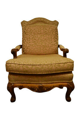 Henredon Upholstered Armchair, French Provincial Style, Peach,Tan,44″H, PA5093JG