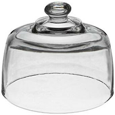 Hocking Heavy Clear Glass Replacement Cover Dome Lid Cheese Cake Food EXCELLENT