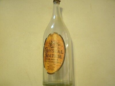 Vintage St.Louis, Mo. Crystal Water & Soda Co. Bottle 64 oz. 1930's