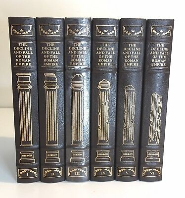EASTON PRESS, The Decline and Fall of the Roman Empire - 6 Vol. - Excellent