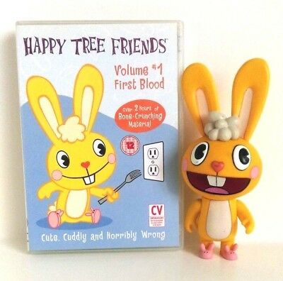 "Happy Tree Friends : First Blood DVD and Cuddles 6"" Deluxe Figure Set"