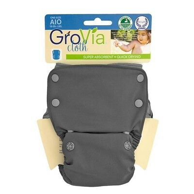 New GroVia Reusable AIO All in One Cloth Snaps NIP Cloud