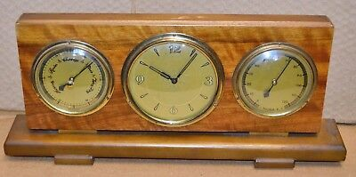 Desk Top German Made Weather Station Barometer Thermometer & Clock