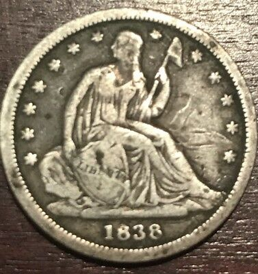 1838 Seated Liberty Dime In Very Fine Condition L301