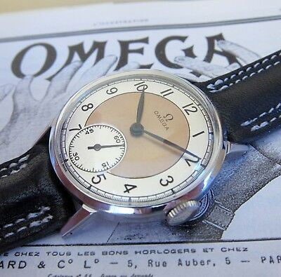 Vintage OMEGA Classic Mens watch Swiss Made 1950s, 2-TONE DIAL, Calibre: 30T2