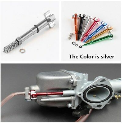 Adjuster Silver Screw for Carb Dirt Bike Motorcycle ATV FCR Air Fuel Carburetor
