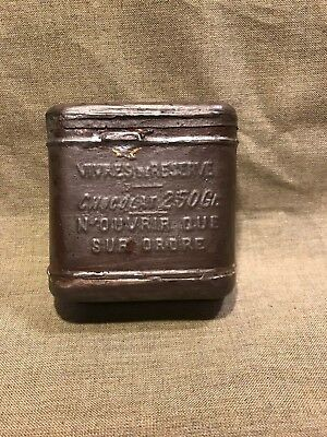 WWI French Amy emergency Iron ration Reserve chocolate ration