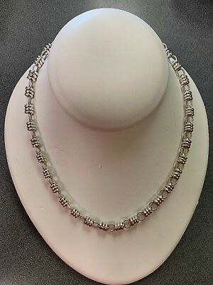 """18"""" Geniine Sterling Silver Necklace With Toggle Lock"""