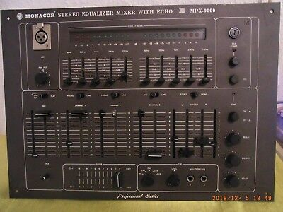 Mischpult/STEREO EQUALIZER MONACOR MPX-9000