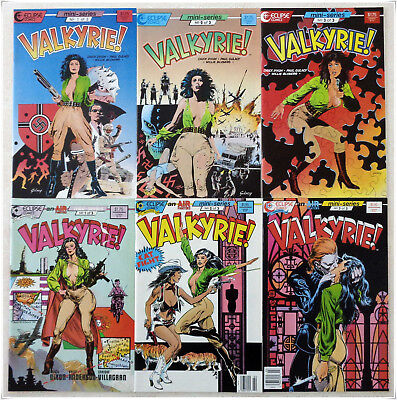 VALKYRIE #s 1-3 (Both Series, Eclipse, 1987-88) - Mostly NM+ or Better!