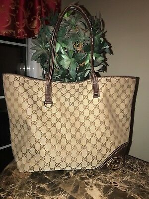 341100f42a25 Awesome GUCCI Britt Tote Bag -medium neverfull size- Brown Mono GUC  Authentic