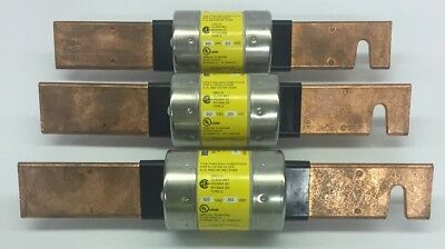 Bussmann LPS-RK-250-SP Low Peak Fuse Time Delay 600 VAC 300 VDC Lot Of 3