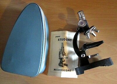 """Vintage KIBRO """" Your Student Microscope """" MADE IN JAPAN Scientific instrument"""
