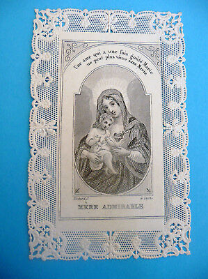 Canivet Image Pieuse Lace Holy Card Santino Mere Admirable Pintard