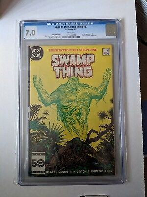 Saga Of The Swamp Thing 37, first full John Constantine CGC 7.0
