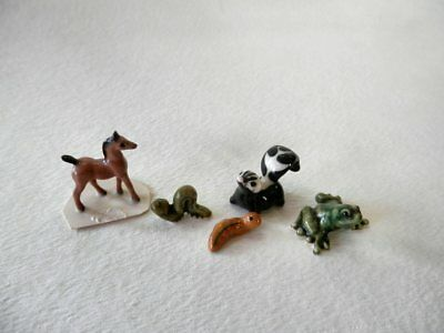 Vintage Lot Hagen Renaker Miniature Horse Dogs Frog Worm Caterpillar