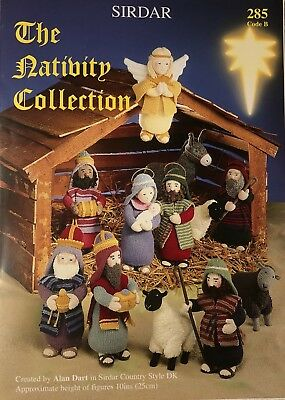 Alan Dart's 'The Nativity Collection' Knitting Pattern Booklet New