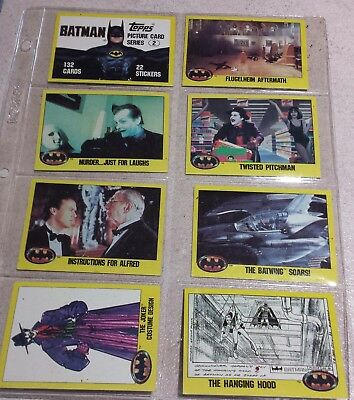 Batman Series 2  Trading cards from the movie Topps 1989 lot of 10
