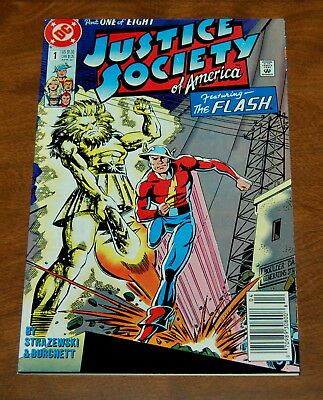 Justice Society of America (1991 series) #1 in VF/VF+ condition Flash DC Comics