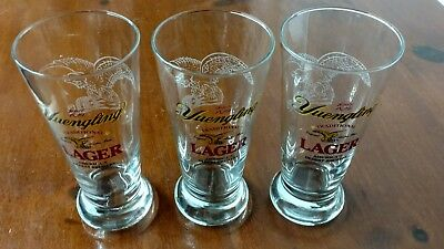 Lot Of 3 Yuengling Lager Beer Glasses