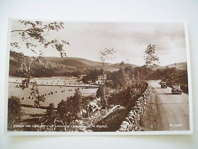 Ewes Valley Hawick - Langholm Rd, Valentines No A7731 dates image 1939. Old Cars