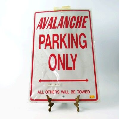 General Motors Steel NOS Avalanche Parking Only Sign GM Licensed Product