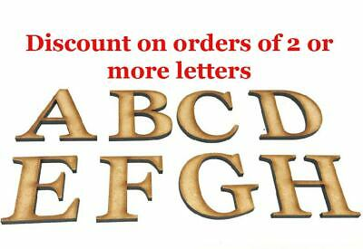 Wooden Letters Large Small Georgia Bold 2cm-40cm 4mm Thick Craft  Extra Large
