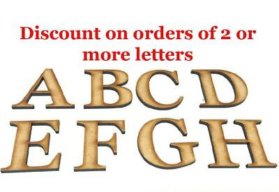 Wooden Letters Large Small Georgia Bold 2cm - 40cm Letters Alphabet Numbers Wall