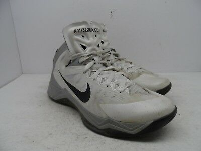 729cf2a5ef78 NIKE Zoom Hyperquickness TB Mens Basketball Shoes 599420-100 White Size  10.5M