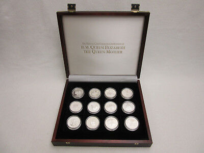 Silver Proof Coin Collection for HRH Queen Elizabeth the Queen Mother - 24 coins