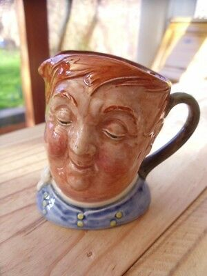 "D6139  "" Fat Boy "" Quality Miniature Royal Doulton Character jug (A mark)"
