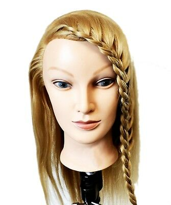 Mannequin Head for Training. Long Blonde Hair. Nice and Soft Hair | Hairdressers