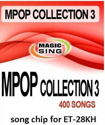 ET28KH #3 ENTERTECH MAGIC SING MIC 400 Song POP ROCK Country Collection Chip