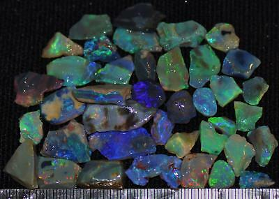 100 Cts Solid Gem Quality Lightning Ridge Rough And Rough Rubbed Opal Parcel 65