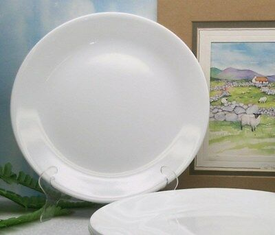 "5  Corelle Corning Ware  WINTER WHITE Frost  10 1/4"" Dinner Plates"