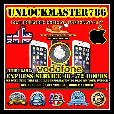 Vodafone UK Factory Unlock Service iPhone 7/7+