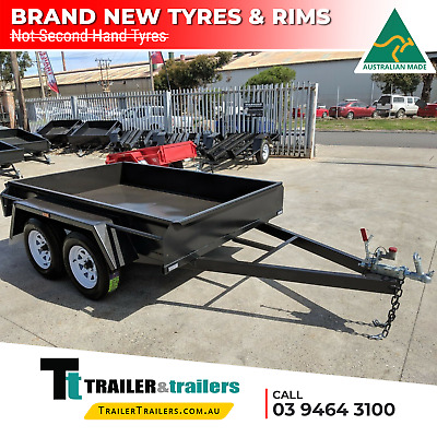 9x5 STANDARD TANDEM BOX TRAILER | FIXED FRONT | NEW WHEELS + TYRES