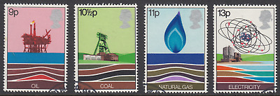 GB Stamps 1978, Energy Resources, set of 4 Very Fine Used from FDC. SG 1050-1053