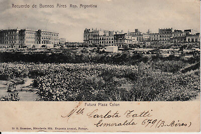 1903 View of Buenos Aires ARGENTINA  Sent to Odessa Russia