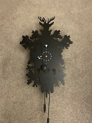 CUCU 373 black Modern Wall Cuckoo Clock Diamantini Domeniconi